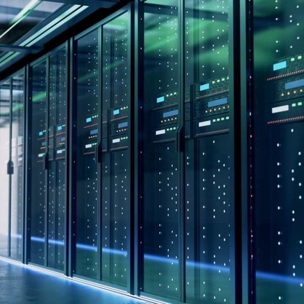 Server room or server computers.3d rendering.